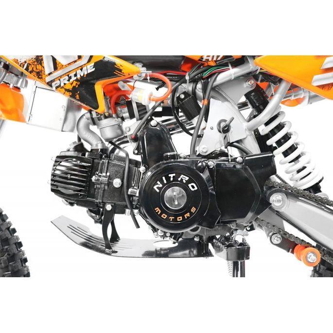 Moto cross 125cc automatique 17/14 vert Sprinter - Photo n°6