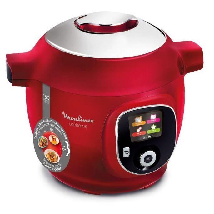 MOULINEXCE85B510Multicuiseur intelligent COOKEO +6 L- 180 recettes préprogrammées - Rouge - Photo n°1