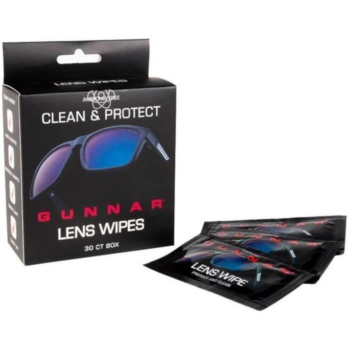 Pack de 30 lingettes nettoyantes pour lunettes anti lumiere beue Gunnar - Photo n°1