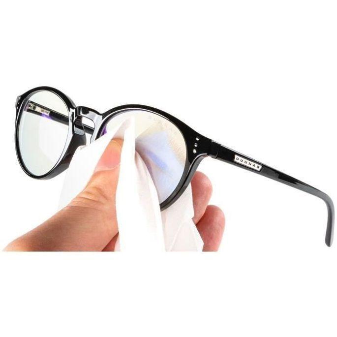 Pack de 30 lingettes nettoyantes pour lunettes anti lumiere beue Gunnar - Photo n°3