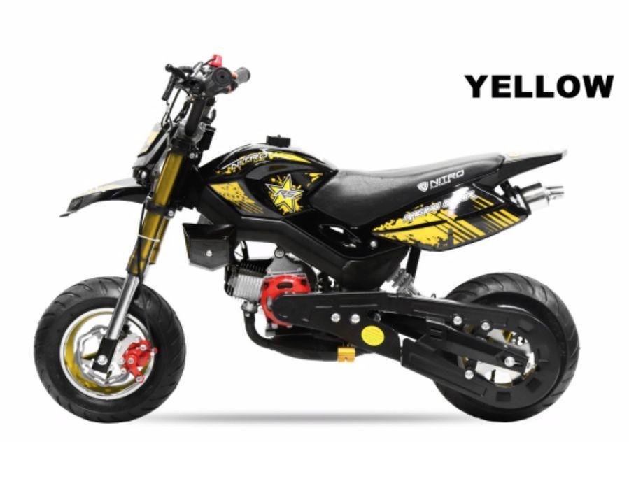 Pocket bike 49cc Sport Hobbit 6,5/6,5 jaune - Photo n°2
