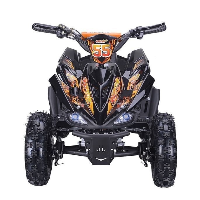 Quad électrique 800W Raptor orange avec LED - Photo n°3