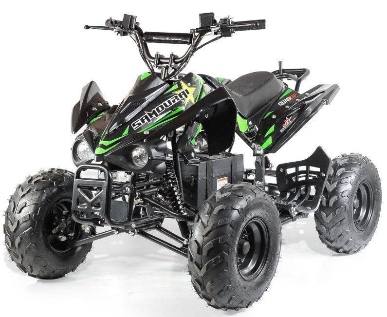 Quad électrique ado KX 750W brushless (1200W) vert - Photo n°1