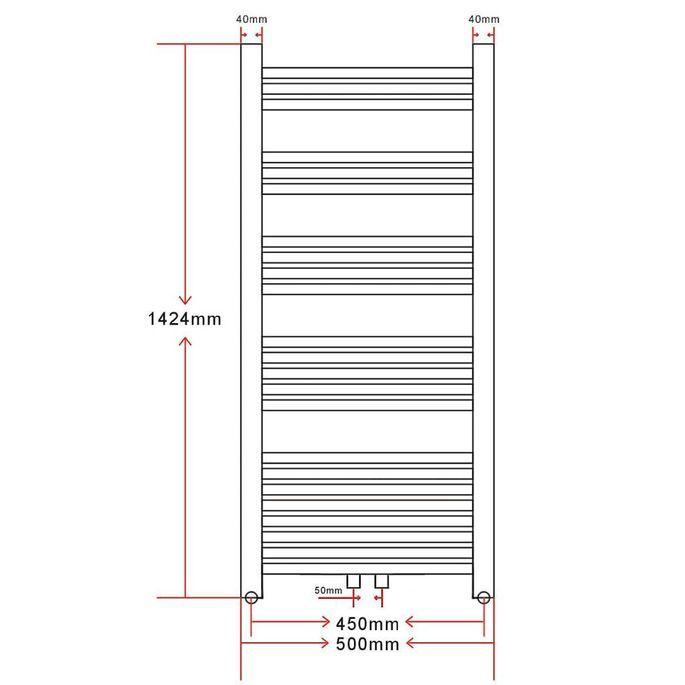 Radiateur Sèche-Serviettes Vertical pour Salle de Bain 500x1424mm - Photo n°8