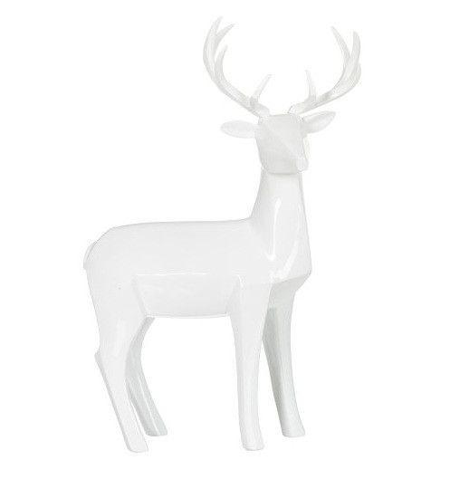 Sculpture cerf résine blanche Narsh - Lot de 2 - Photo n°1