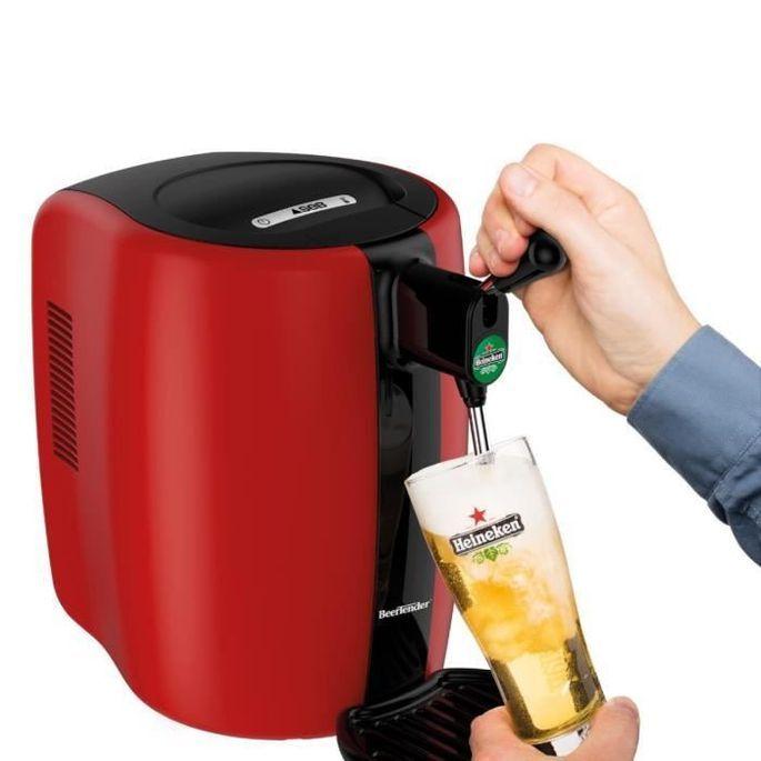 SEB VB310510 - Tireuse a biere Beertender - Compatible fûts 5 L - Noir / Rouge - Photo n°4