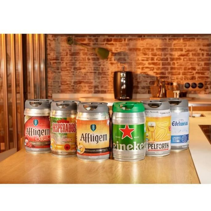 SEB VB310510 - Tireuse a biere Beertender - Compatible fûts 5 L - Noir / Rouge - Photo n°5