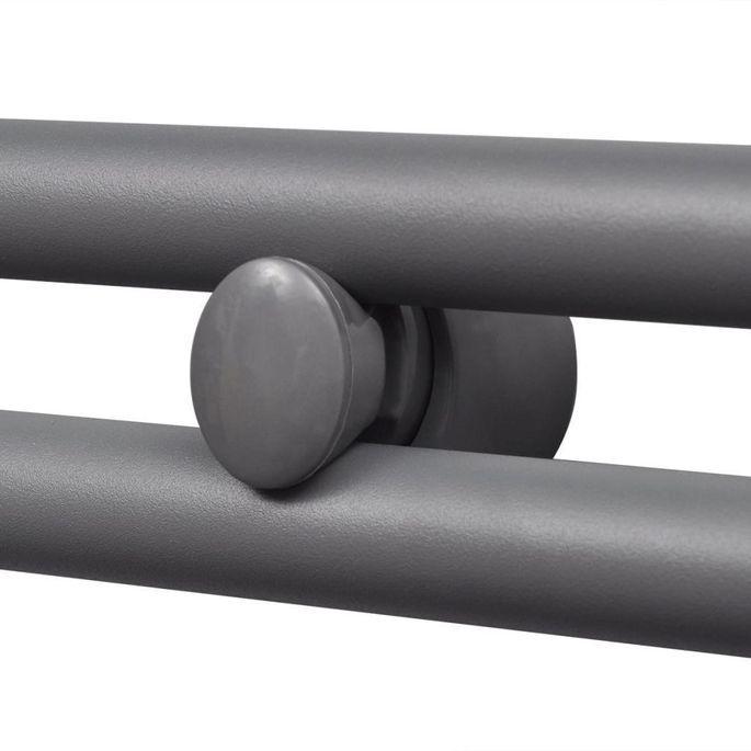 Sèche-serviettes eau chaude à rails droits Gris de 500 x 764 mm - Photo n°4