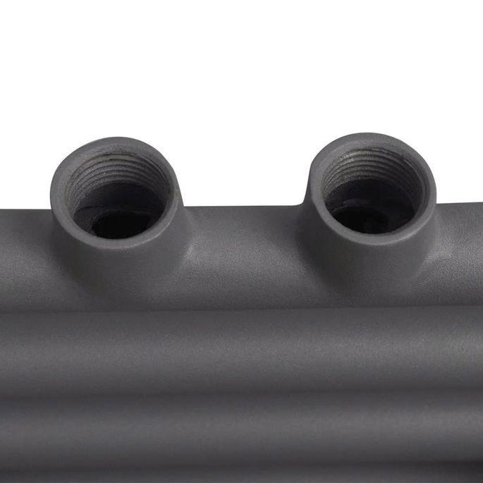 Sèche-serviettes eau chaude à rails droits Gris de 500 x 764 mm - Photo n°7