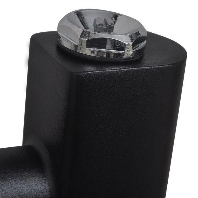 Sèche-serviettes eau chaude à rails droits Noirs de 500 x 764 mm - Photo n°4