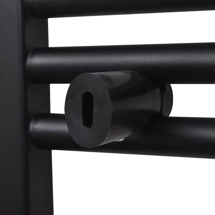 Sèche-serviettes eau chaude à rails droits Noirs de 500 x 764 mm - Photo n°6