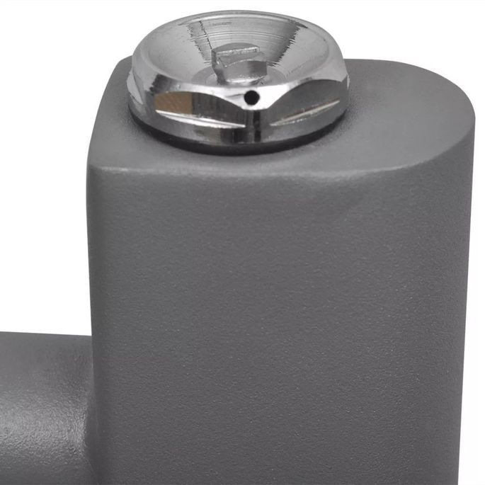Sèche-serviettes eau chaude à rails incurvés Gris de 480 x 480 mm - Photo n°6