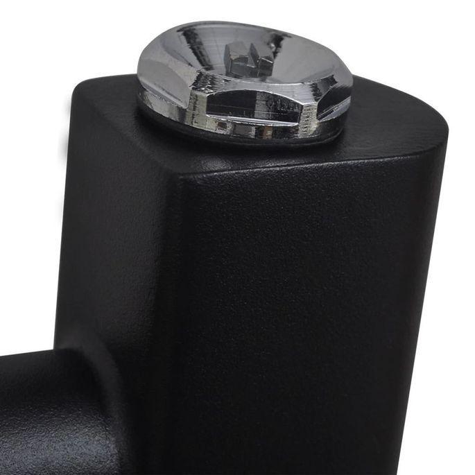 Sèche-serviettes eau chaude à rails incurvés Noirs de 600 x 1424 mm - Photo n°5