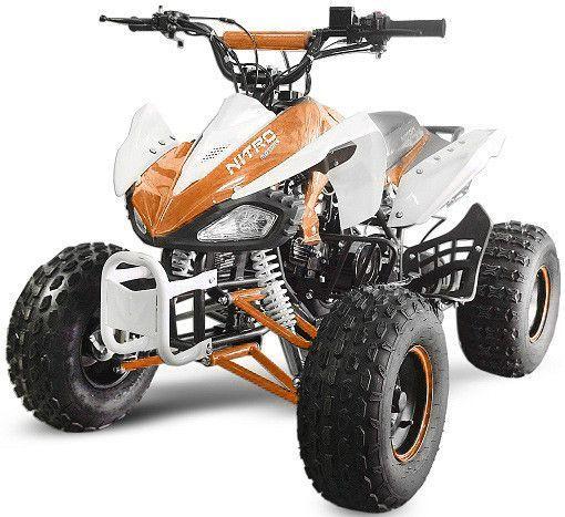 Speedy 1000W 48V orange 7 pouces Quad enfant électrique - Photo n°1