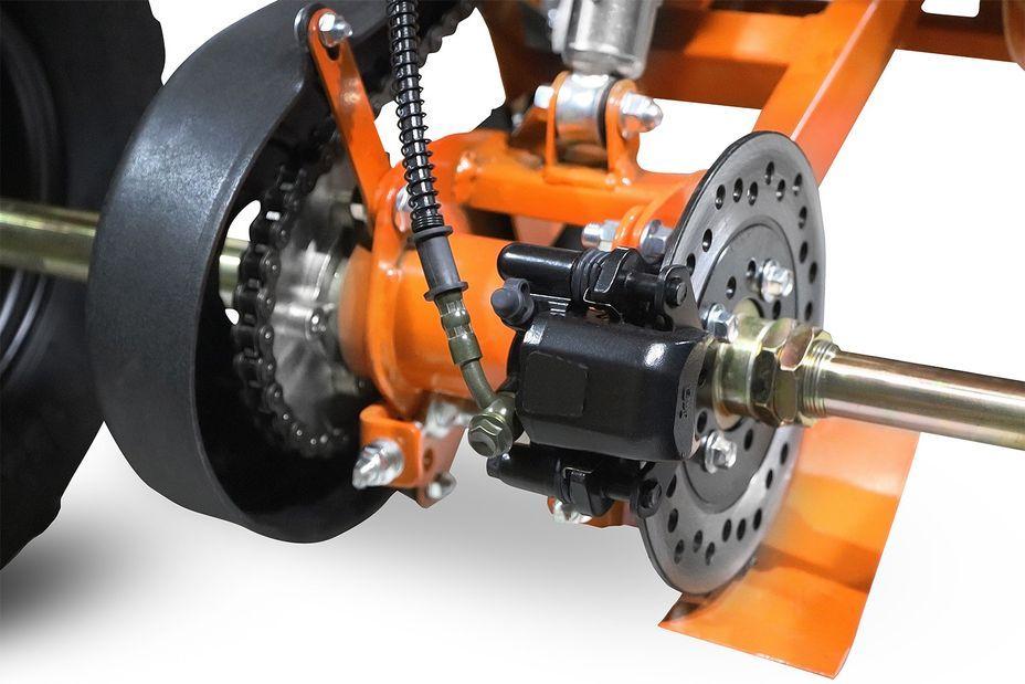 Speedy 1000W 48V orange 7 pouces Quad enfant électrique - Photo n°3