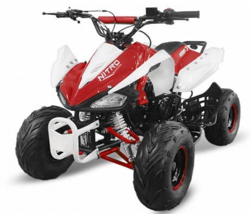 Speedy 1000W 48V rouge 7 pouces Quad enfant électrique - Photo n°1