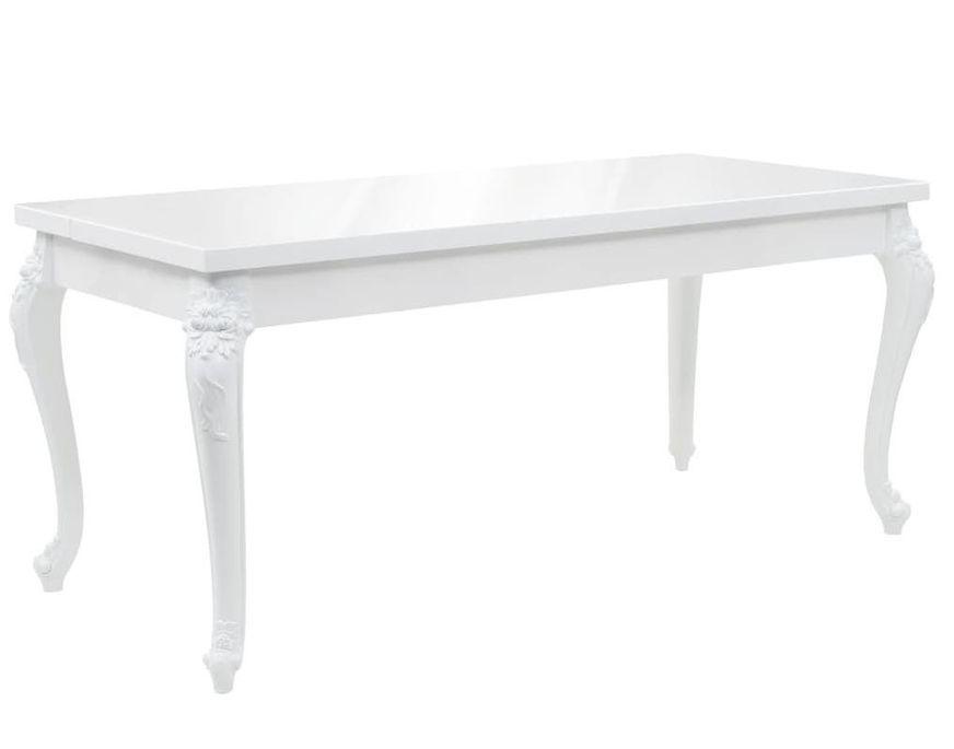 Table à manger rectangulaire blanc brillant Brack 180 - Photo n°1