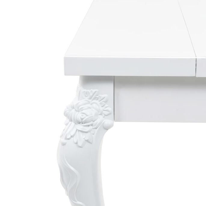 Table à manger rectangulaire blanc brillant Brack 180 - Photo n°5