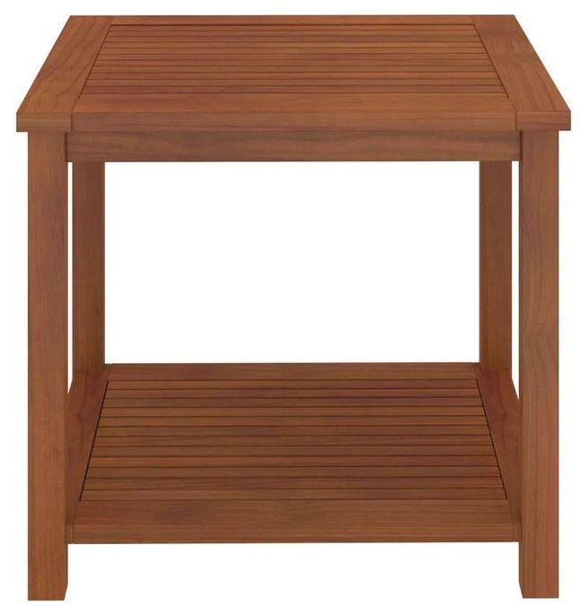 Table d'appoint carrée acacia massif foncé Klover - Photo n°2