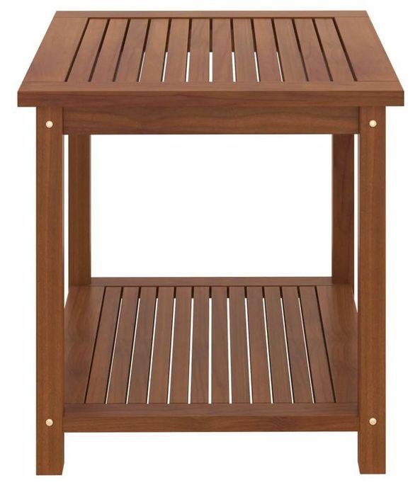 Table d'appoint carrée acacia massif foncé Klover - Photo n°3