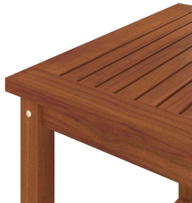 Table d'appoint carrée acacia massif foncé Klover - Photo n°4