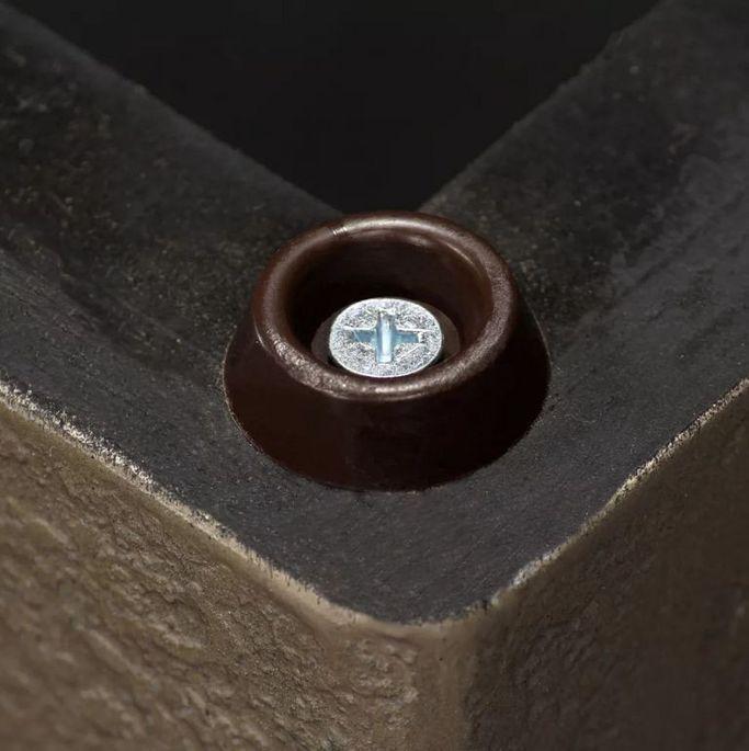Table d'appoint carrée teck massif clair et pieds béton Tokako - Photo n°5