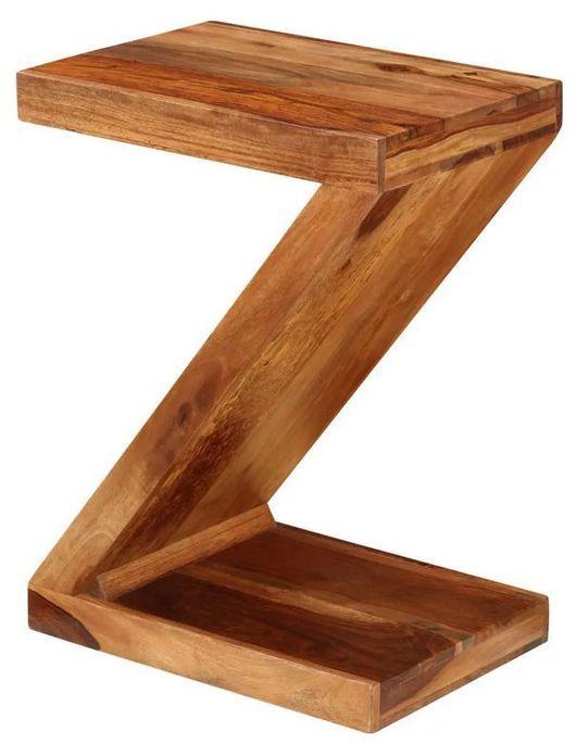 Table d'appoint en Z bois massif clair Kerry - Photo n°2