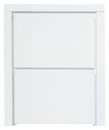 Table de chevet 2 tiroirs bois blanc Max - Photo n°1