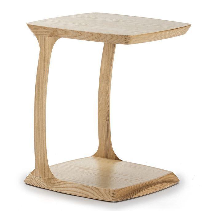 Table de chevet bois massif clair Cristie - Photo n°1