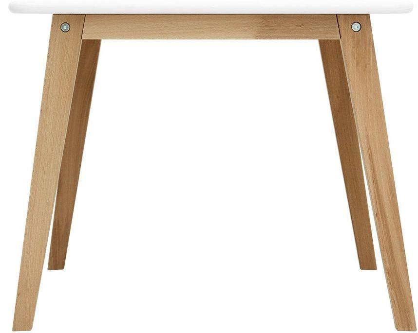 Table de jeu carrée blanche et pieds hêtre clair Ivar - Photo n°2