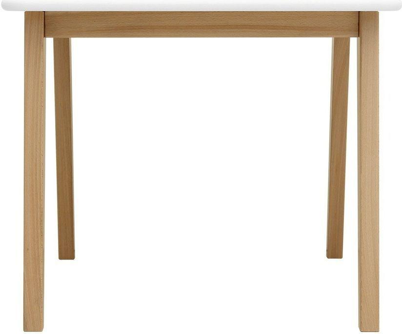 Table de jeu carrée blanche et pieds hêtre clair Ivar - Photo n°3