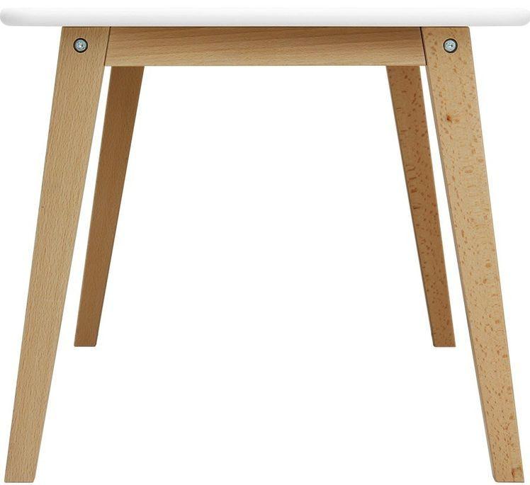 Table de jeu rectangulaire blanche et pieds hêtre clair Ivar - Photo n°3