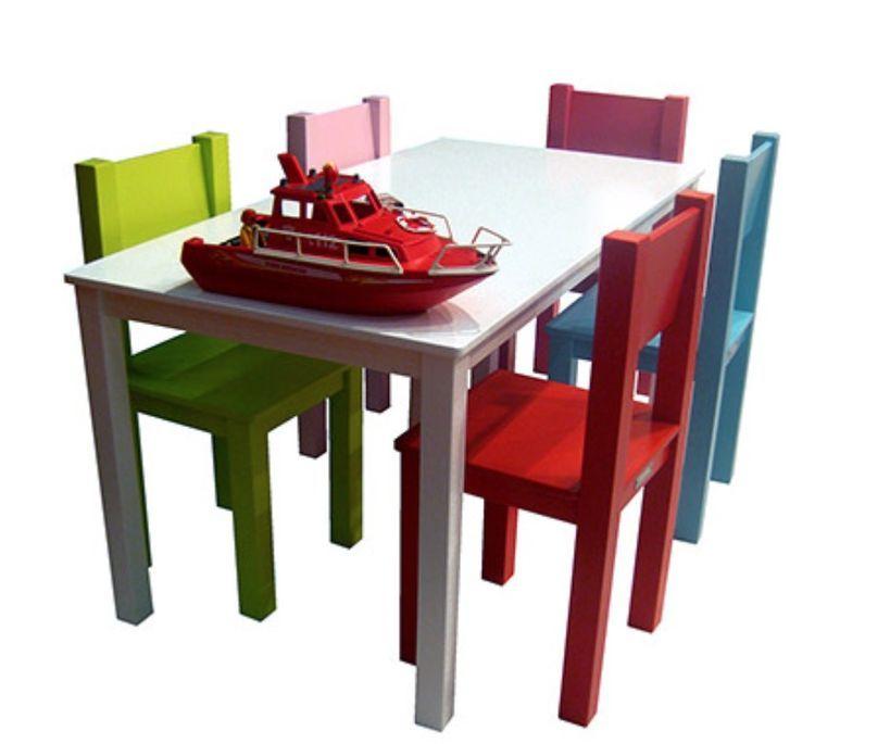 Table de jeu rectangulaire enfant bois laqué blanc Mix & Match 110 - Photo n°3