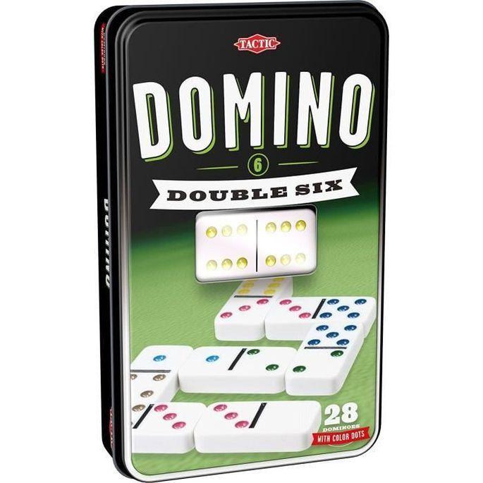 TACTIC Domino Double 6 - Boîte Métal - Photo n°1