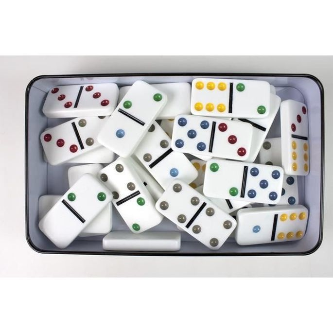 TACTIC Domino Double 6 - Boîte Métal - Photo n°3