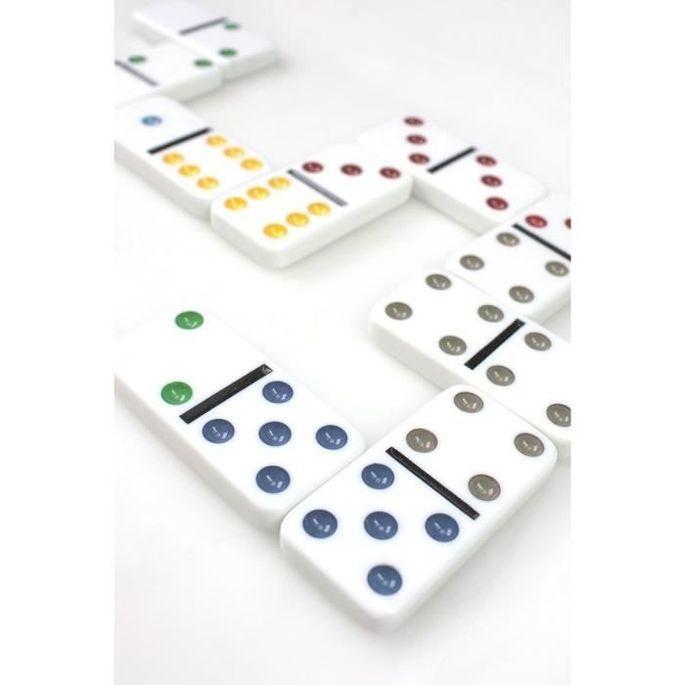 TACTIC Domino Double 6 - Boîte Métal - Photo n°4