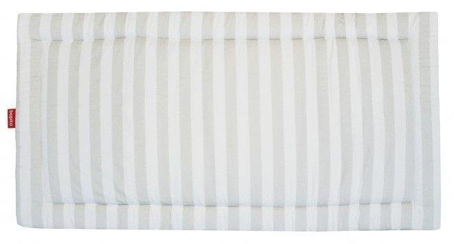 Tapis pour grand parc coton blanc à rayures Doucy - Photo n°1