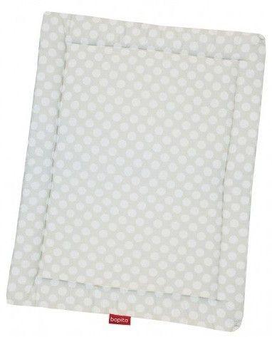 Tapis pour parc coton blanc à pois Doucy - Photo n°1