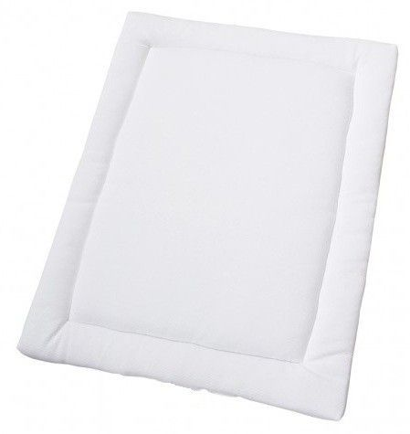 Tapis rectangulaire pour parc coton blanc Jersey - Photo n°1