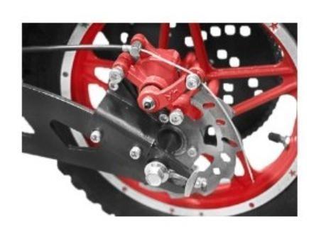 Trottinette électrique avec siège 1000W 36V Twister Jaune - Photo n°4