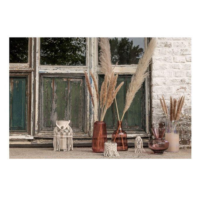 Vase rond verre bordeaux Corali H 24 cm - Photo n°3
