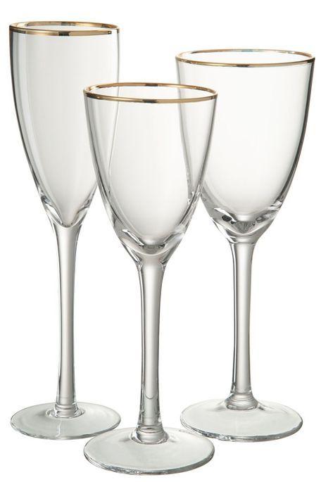 Verre à vin transparent et verre doré Ysarg - Photo n°2