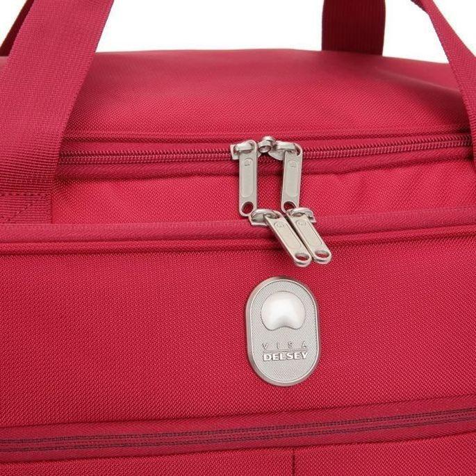 VISA DELSEY Sac de Voyage Weekend Souple 50cm PIN UP5 Rouge - Photo n°3